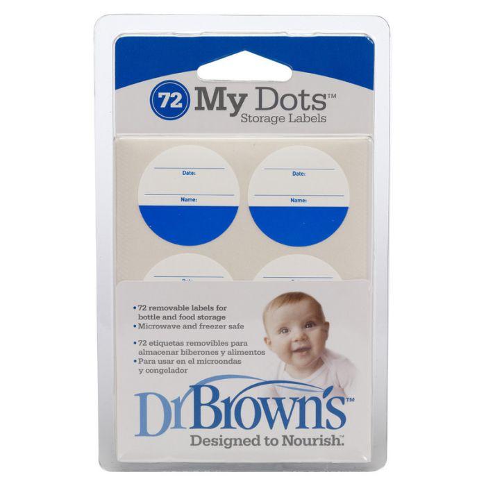 *Zestaw etykiet samoprzylepnych do opisywania butelek i pojemników na pokarm 72 szt. Dr Browns