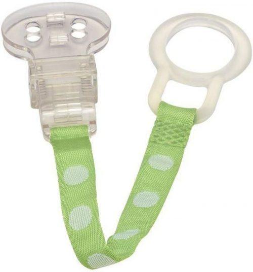 Łańcuszek, tasiemka, klip do smoczków uspokajających Dr Browns Zielony