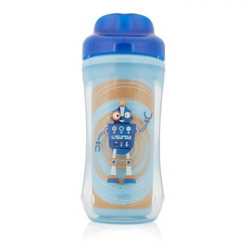 Dr Browns kubek 300ml z ustnikiem umożliwiającym picie jak ze szklanki mixkolor  poziom 4, +12miesięcy. Niebieski