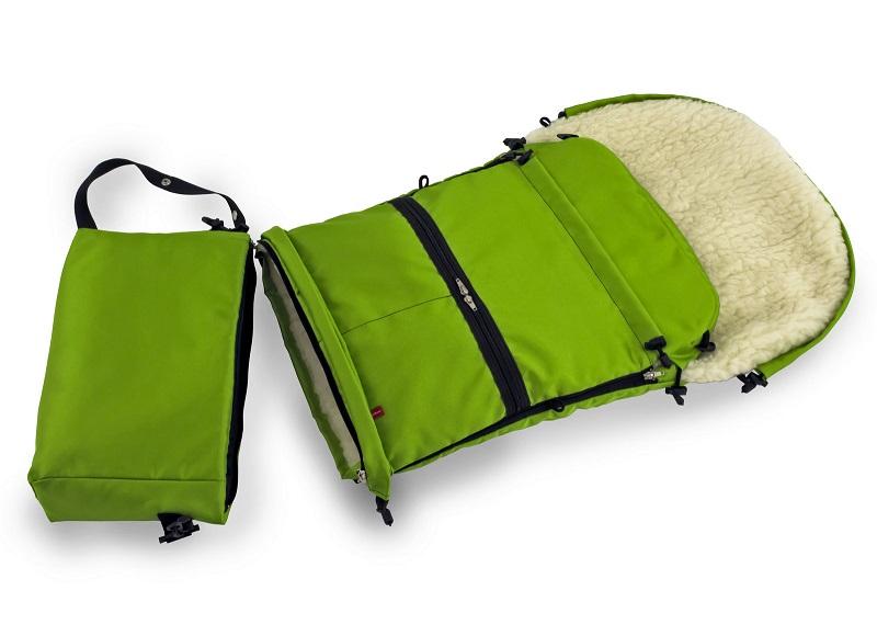Mufka do wózka rękawiczki na rączkę wózków dziecięcych oliwka