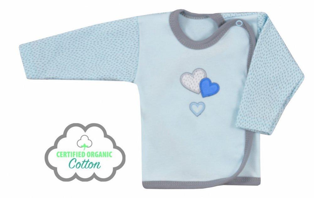 Koala Baby koszulka zakochany miś bawełna organiczna  68 Niebieski
