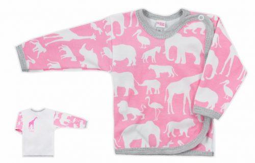 Koala Baby koszulka bawełniane afryka  62 Różowy