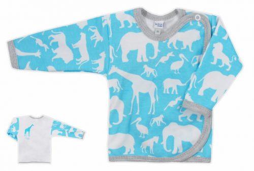 Koala Baby koszulka bawełniane afryka  68 Niebieski