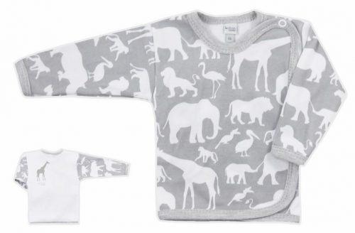 Koala Baby koszulka bawełniane afryka  68 Szary