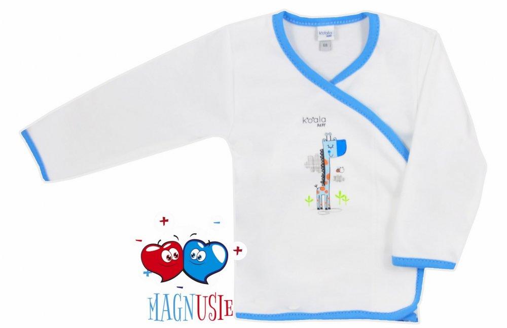 Koala baby koszulka żyrafka magnusie 68 Biało niebieski