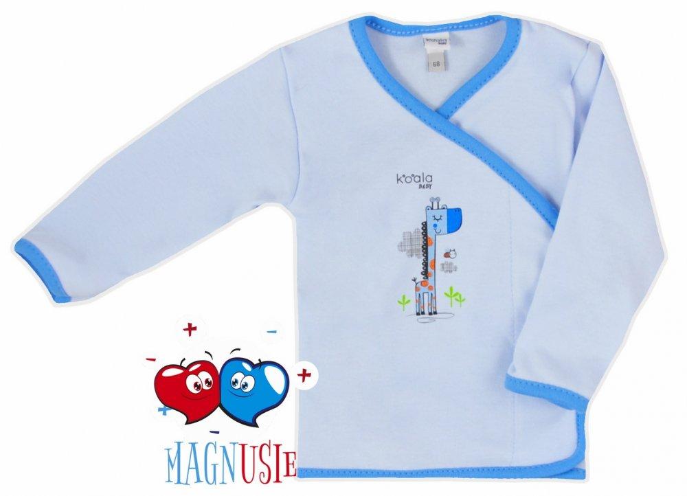 Koala baby koszulka żyrafka magnusie 68 Niebieski
