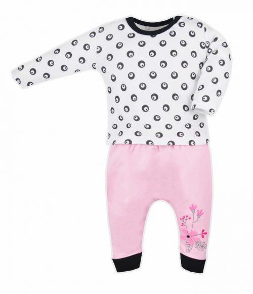 Koala baby bluzeczka+spodenki love birds 68 Kółka czarne