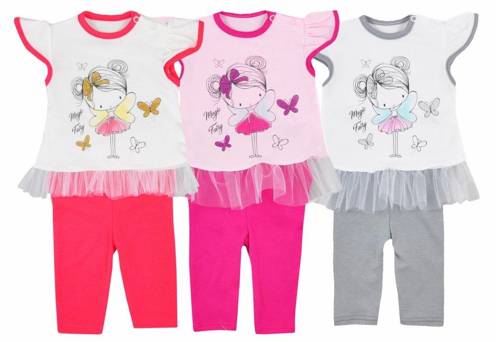 Komplet letni spodenki + koszulka Magiczna Wróżka Koala Baby 80 Różowy