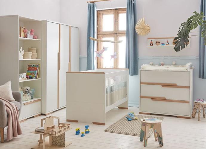 Łóżeczko 120x60 cm z kolekcji Snap, Pinio biały