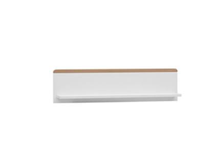 Półka wisząca do kolekcji Snap, Pinio biała