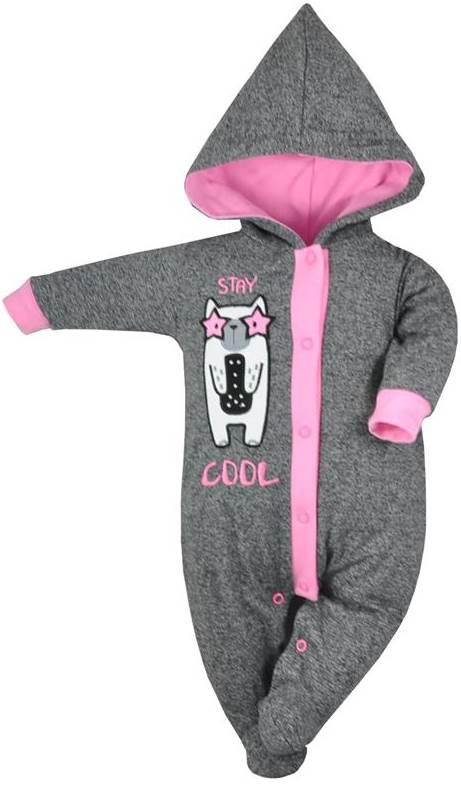 Pajacyk ocieplany niemowlęcy bawełniany Stay Cool, Koala Baby 68 Różowy