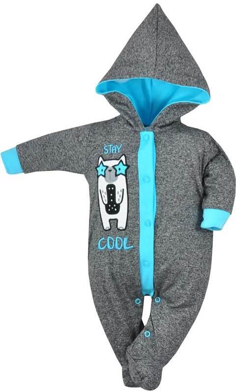 Pajacyk ocieplany niemowlęcy bawełniany Stay Cool, Koala Baby 74 Niebieski