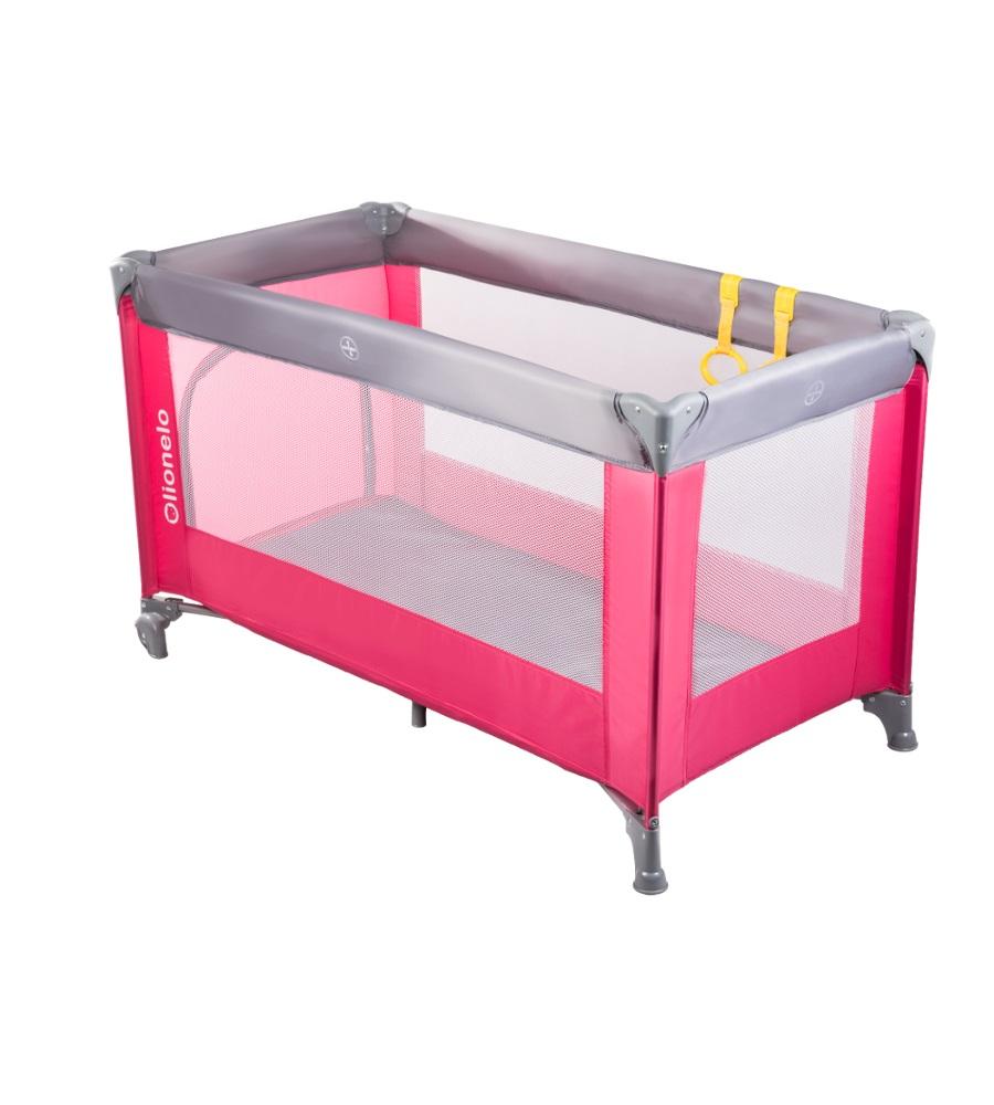 Łóżeczko turystyczne jednopzioowe Suzie Grey Pink
