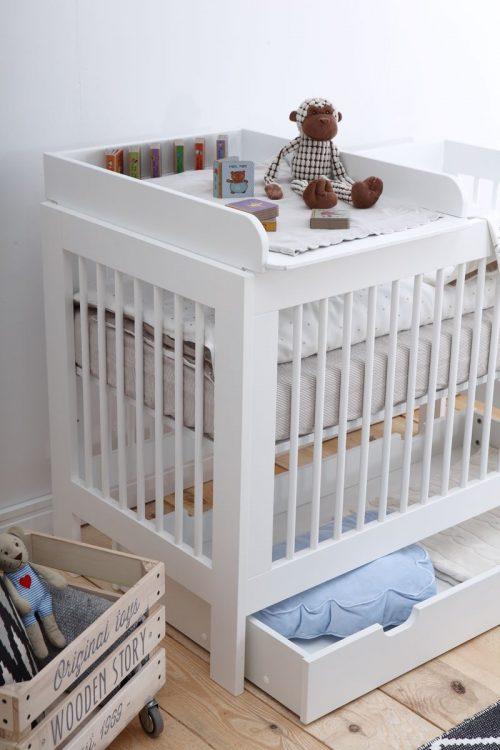 Przewijak BAsic MDF na łóżeczka Pinio 120x60 - biały