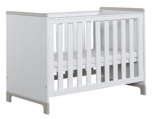 Łóżeczko dziecięce Mini Pinio 120x60 cm Biały szary