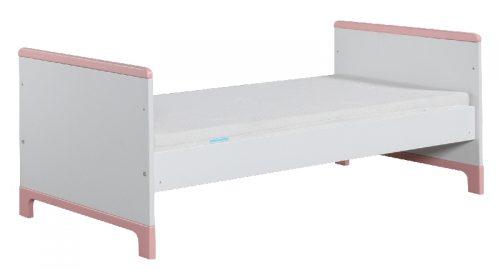 Łóżeczko tapczanik 140x70 Mini Pinio Biały różowy
