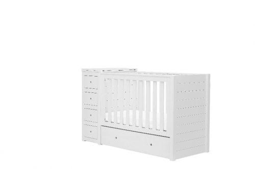 Łóżeczko dziecięce z komodą zestaw dla dziecka Paso Doble Pinio