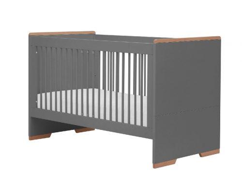 Łóżeczko tapczanik 140x70 cm z kolekcji Snap, Pinio szary
