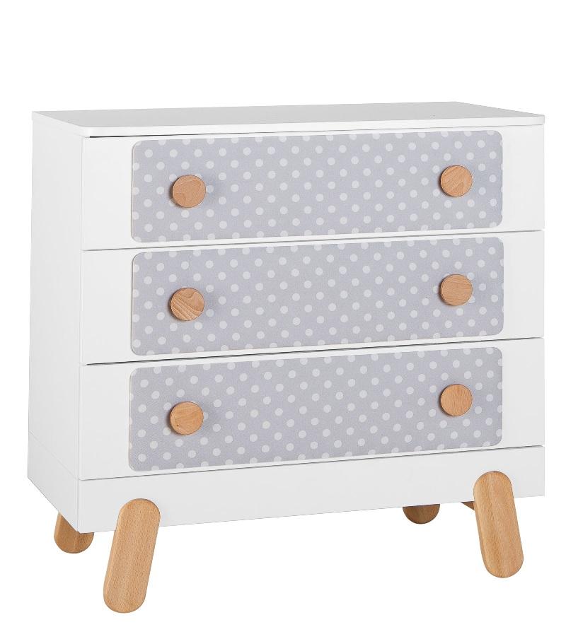 Pinio Komoda z 3 szufladami z kolekcji Iga