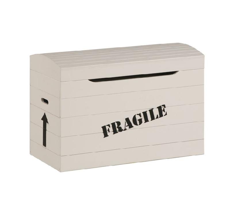 Skrzynia na zabawki pojemnik na pościel Pinio Toy Box z napisem Fragile