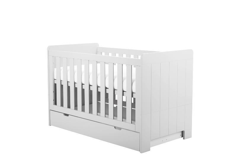 Pinio Calmo MDF łóżeczko-tapczanik 140x70 Biały