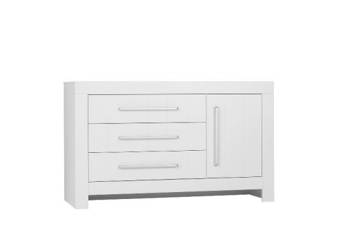 Pinio Calmo MDF komoda 3-szufladowa+1 drzwi Biały