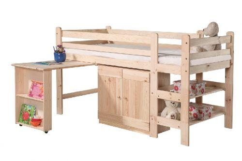 Łóżko malowane Bed 1 200 x 90 cm Pinio Białe
