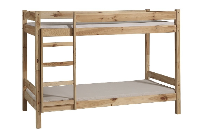 Piętrowe łóżko Dla Dzieci 200x90 Bed 2 Pinio Surowe Niemalowane