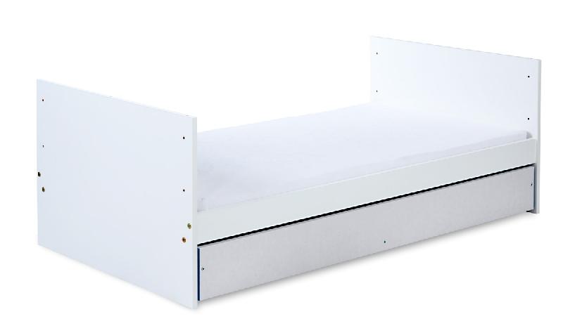 Dziecięce łóżeczko z szufladą 140x70 cm Klupś Dalia - z funkcją tapczanika Klupś Grey