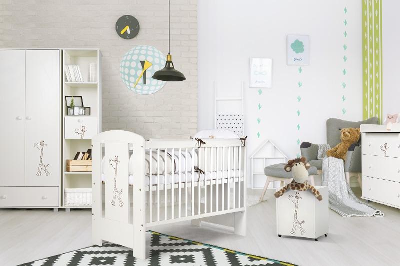 Regał Safari Żyrafka firmy Klupś w kolorze białym 184x42x52 cm