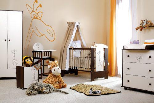 Łóżeczko Safari Żyrafka 120x60 Klupś ecru-orzech