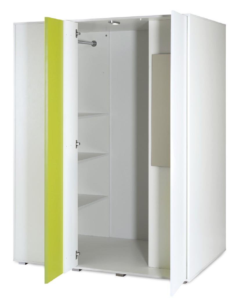 Garderoba - szafa dziecięca Irene Lime 183x138x90