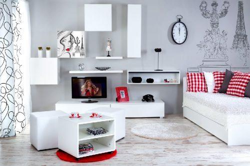 Młodzieżowe łóżko Top Paris Białe 200x90 Klupś