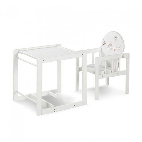 Wielofunkcyjne krzesełko Agnieszka III Klupś do karmienia dzieci Biały sówki