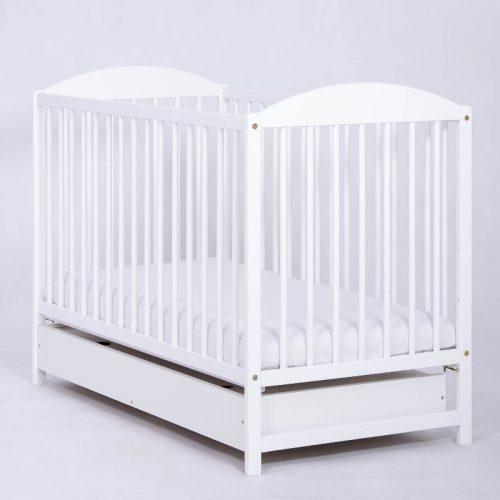 Łóżeczko z szufladą 120x60 Kuba II, Drewex Biały