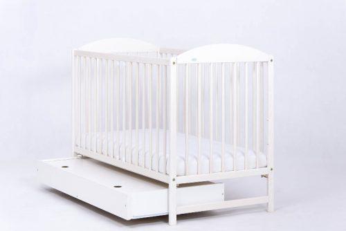 Łóżeczko z szufladą 120x60 Kuba II, Drewex Biały Transparentny