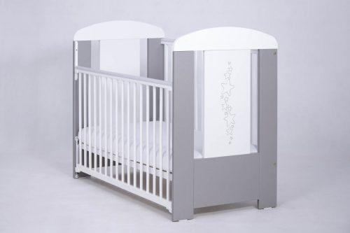 Łóżeczko dziecięce 120x60 z opuszczanym bokiem Gwiazdki Drewex