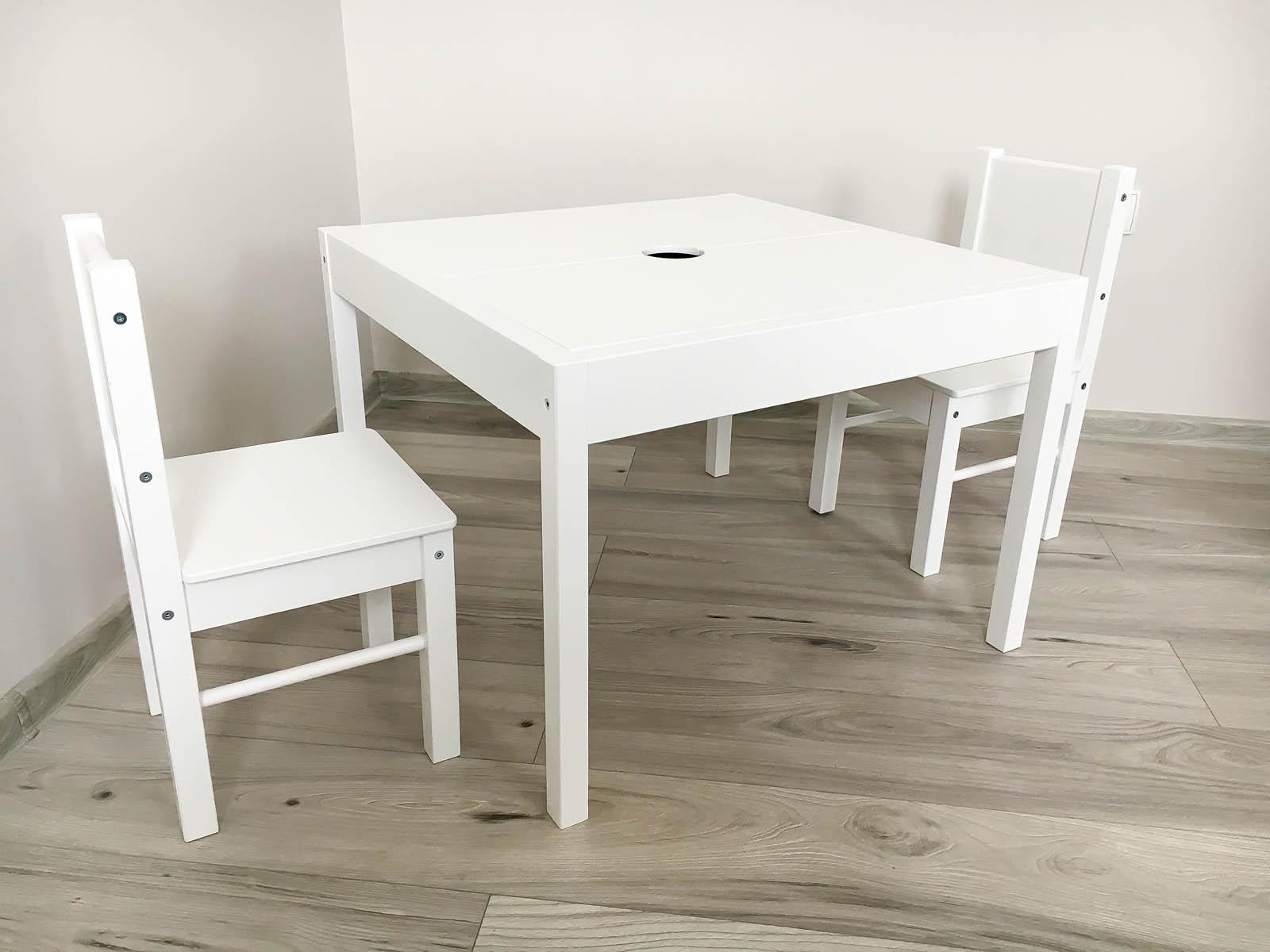 Drewex Stolik z 2 krzesełkami białe