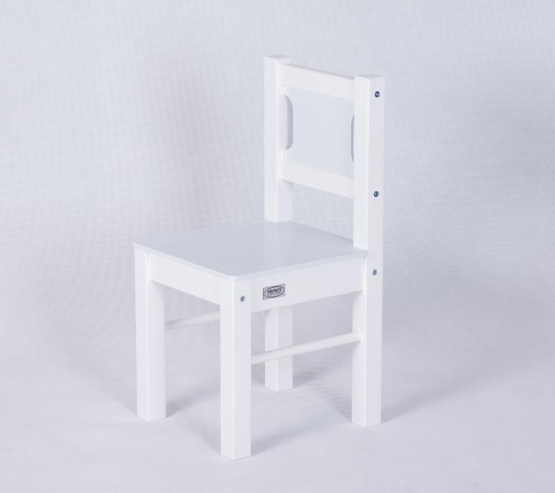 Drewex 2 krzesełka biały jasny szary