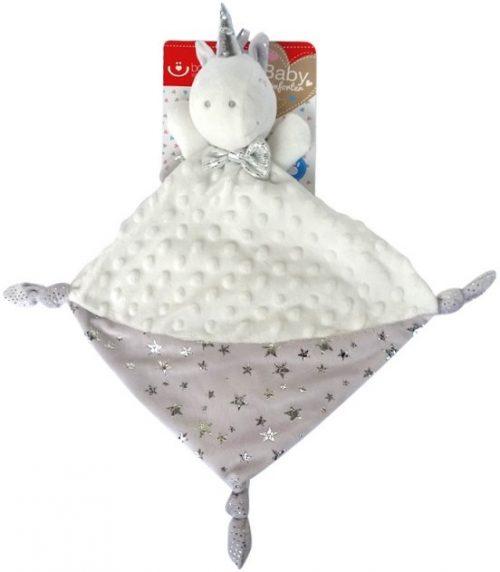 Przytulanka minky dla niemowląt Jednorożec ecru