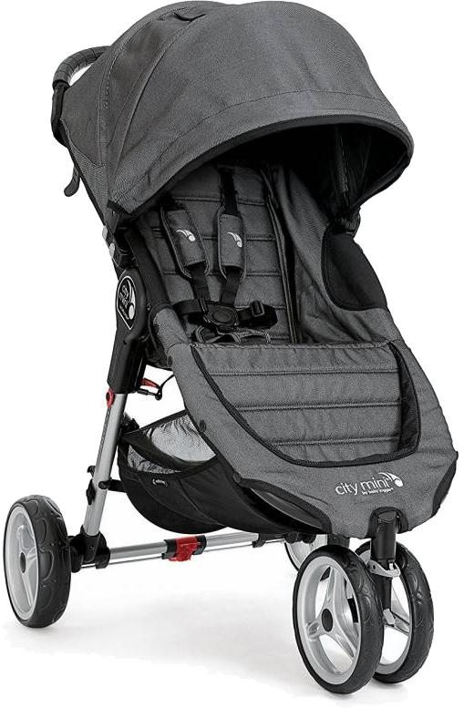 Kompaktowy lekki wózek spacerowy City Mini Baby Jogger - wersja 3 kołowa  + pałąk i folia przeciwdeszczowa