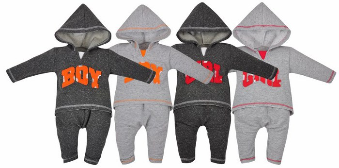 Koala Baby Dres bawełniany kolekcja Boys and Girls 74 Grafit Girl