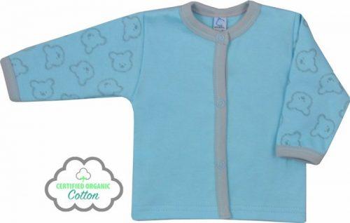 Kaftanik z bawełny organicznej kolekcja Misiaki Koala Baby 62 Niebieski