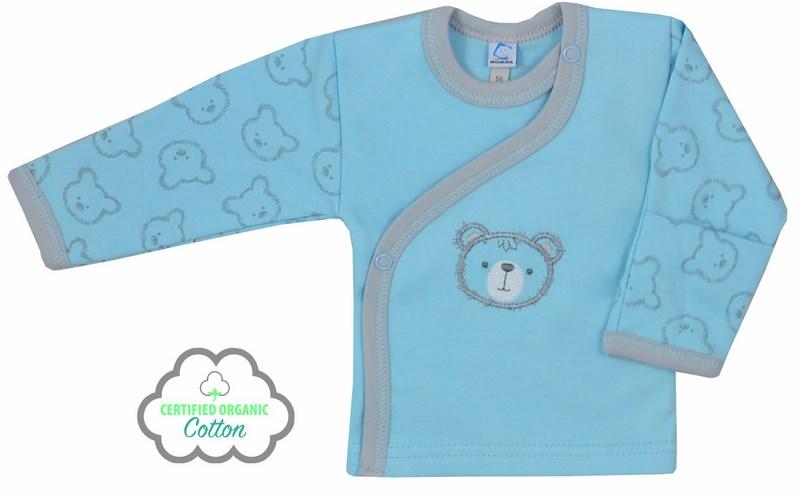 Koala Baby Koszulka z bawełny organicznej kolekcja Misiaki 68 Niebieski