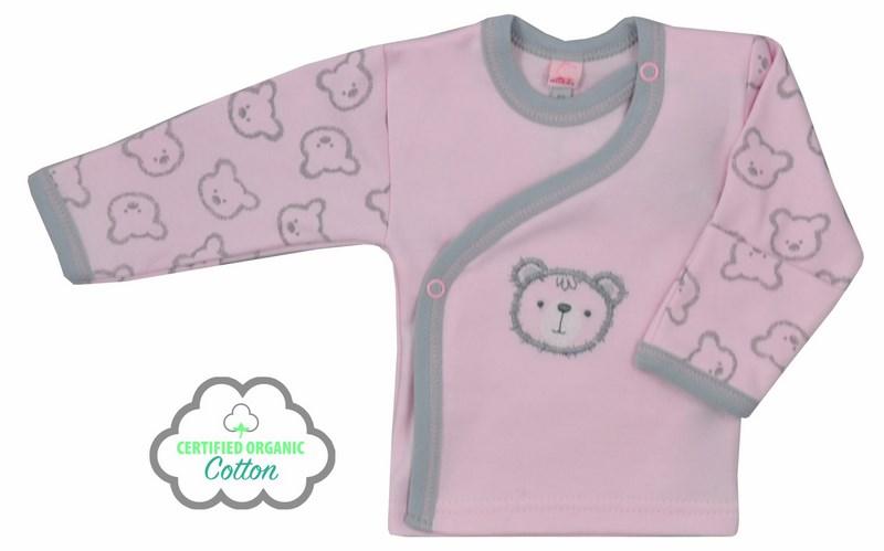 Koala Baby Koszulka z bawełny organicznej kolekcja Misiaki 68 Różowy