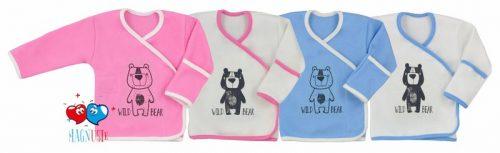 Koala Baby Koszulka samozapinająca Magnusie kolekcja Dziki Miś 68 Biało różowy