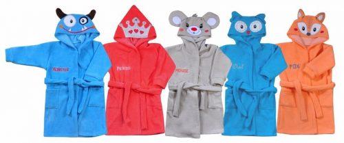 Szlafrok dla dzieci z kolekcji Stworek Koala Baby 98 Pomarańczowy Lisek