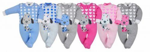 Komplet bawełniany kaftanik i śpioszki kolekcja Piesio Koala Baby 68 Szaro niebieski