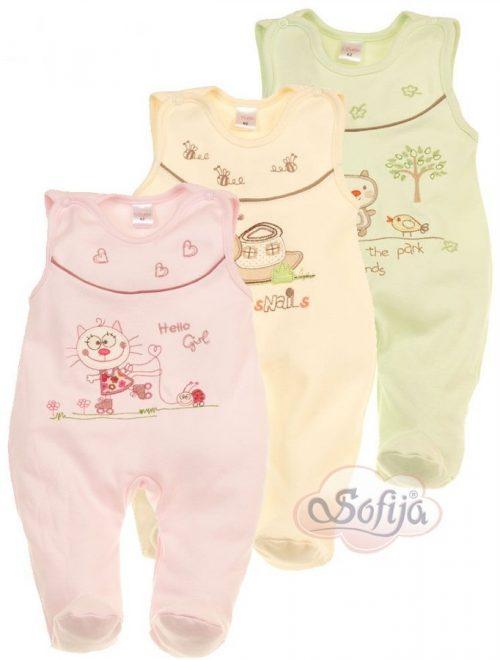 Śpiochy niemowlęce w pastelowych kolorach - śpioch Gusia firmy Sofija r.68 Pistacjowy