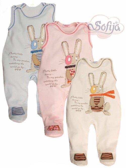 Śpioszki Sofija Rapuś dla niemowląt 62 Różowy